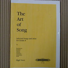 vocal THE ART OF SONG Grade 8, Hight Voice , Ed. Peters 7448