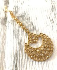 Indian Bollywood Tikka Jewelry Polki Maang Tikka Hair Accessory Kundan Teeka