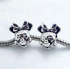 Wholesale 10pcs Retro Silver Rondelle Spacer Beads Fit European Charm Bracelet