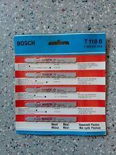 5 Lames scie sauteuse BOSCH T118b