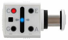 Kompakter MiniPitch Ukulelentuner in Weiß, mit LED-Leuchtanzeige & Klammer-Clip