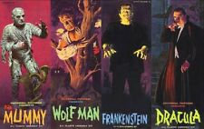 Aurora Monster Kits Frankenstein,The Mummy,Dracula & Wolfman Sticker or Magnet