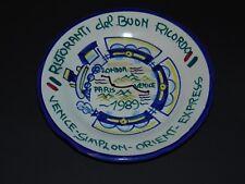 Venice-Simplon Orient Express Italian 1989 RARE plate Ristoranti Buon Ricordo