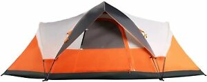 Mobihome 6 Person Tent Family Camping Quick Setup orange