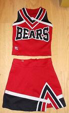 Teamleader Bears Red, Black, White Cheerleading Uniform Youth 2Xs