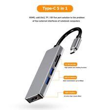 5 in 1 USBC Type C to HDMI 4K / 2x USB 3.0 / SD / TF adaptor -Hub - iPad Samsung