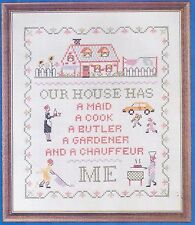 """Needles 'N Hoops Easy-To-Do Sampler Kit """"Our House"""" No. 284 12"""" x 14"""""""