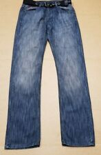 G812 MENS LEE COOPER DARK BLUE BELTED STRAIGHT LEG DENIM JEANS W30 L34 BNWT