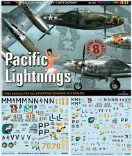 *Pacific Lightnings Part I, TopColors,  ENGLISH!  Decals!!