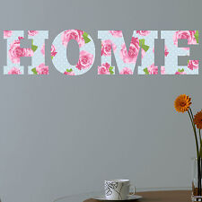 HOME Shabby Chic Floral Full Colour Wall Sticker Decal Vinyl Art Decor vintage