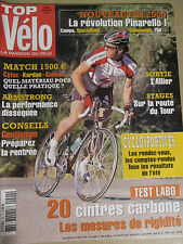 TOP VELO N°90: SEPTEMBRE 2004: 20 CINTRES CARBONE - ARMSTRONG - MATCH 1500€