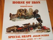 HORSE OF IRON. SunsOut Puzzle, 1000 SHAPED Pieces, COMPLETE (P81)