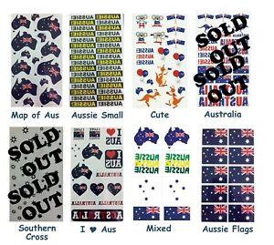 Australian / Aussie Temporary Tattoo's *1 DESIGN PER PACK*