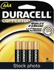 Duracell  AAA  Alkaline  Batteries  192 (4 Boxes Of 48) 4 Pk Carded 12 Cards/box