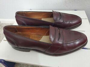 Alden 683 Burgundy Calfskin Full Strap Penny Loafer Slip On Shoes Size 11 C/E