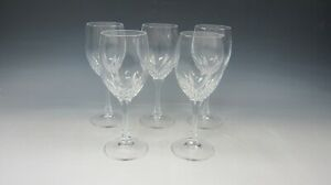 Lot of 5 Cris D'Arques Crystal JUAN Wine Glasses EXCELLENT