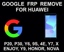Google Account FRP Unlock, Remove, Bypass Huawei P20, P30, Mate, Honor, Y7, Y6
