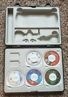Sony PSP Games Lot Of 5 With Carrying Case