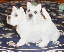 Two Scotties Standing Together Figurine Stone Citter The Animal Collection