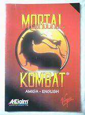 59662 Instruction Booklet - Mortal Kombat - Commodore Amiga (1993)