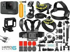 Cámara de acción GoPro Hero 6 Negro deportiva impermeable 4K 12MP gran angular de HERO 6
