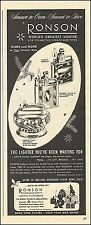 1945 Christmas AD RONSON Table and Pocket Cigarette Lighters , Flints 071617