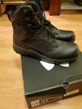 Under Armour Black Stellar Tactical Protect Boots UA Composite Toe Tac Boot 10.5