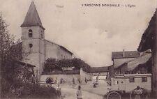 MEUSE - L'ARGONNE - DOMBASLE - L'EGLISE - CARTE DATEE DE 1915.
