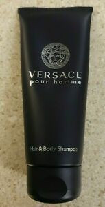 Versace POUR HOMME Hair & Body Shampoo Wash Gel MEN Cologne Scent 50ml 1.7oz NeW