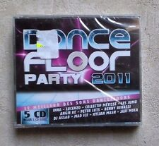 CD AUDIO MUSIQUE /  DANCEFLOOR PARTY 2011- COFFRET 5XCD COMPILATIONS 2011 NEUF