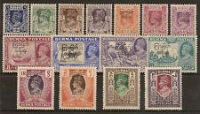BURMA 1947 KGVI INTERIM GOVT SET TO 10R SG68/82 MNH