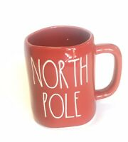 "Rae Dunn ""NORTH POLE"" Red Christmas Mug Brand New 2019 Drink Tableware"