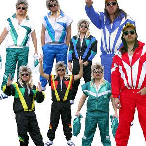80er Jahre Trainingsanzug, Retro Jogginganzug, Karneval Kostüm Verkleidung
