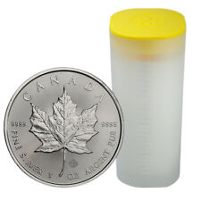 Roll of 25 - 2018 Canada 1 oz Silver Maple Leaf $5 Coins GEM BU PRESALE SKU49796