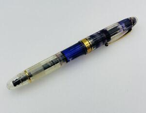 Omas Vintage Clear Vision Plastic & Gold Trim Fountain Pen