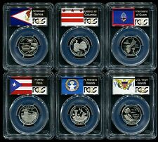 2009 S Silver State Quarter 6 Coin Proof Set PCGS PR69 DCAM 25C New Holders!