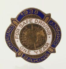 Continental Baking Company Pin - Copper Driver Safety Award Service 1938 Vintage