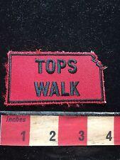 Vtg TOPS WALK Kansas In Red Background Patch ~   Walker Hiker C71C