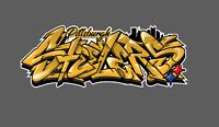 Pittsburgh Steelers Graffiti Vinyl Decal 8x3