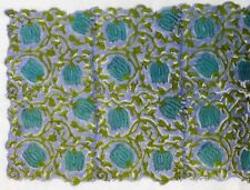 10 yard Indian Cotton Hand Block Sanganeri Printed Handmade Cotton Fabric Floral
