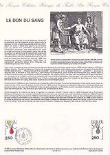 Document Philatélique Timbre 1er Jour : 09/04/ 1988 - Le don du Sang