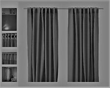 IKEA Aina Dark Gray NEW Curtain Panels Sealed Set of 2 Drapes Charcoal Linen NIP