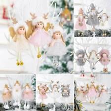 Christmas Angel Plush Toy Doll Pendant Xmas Tree Hanging Ornaments Party Decor .