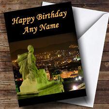 España Barcelona Personalizado Cumpleaños tarjeta de saludos