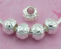 30pcs Silver Plated Spacer Beads 5mm Hole Fit European Charm Bracelet SY26