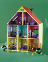 Peppa Pig Wooden Playhouse, Multicoloured Play House Set*BRAND NEW