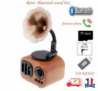Rétro AS90 portable phonographe Bluetooth sans fil haut-parleur  TF carte PC MP3