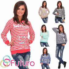Cotton Thin Knit Striped Jumpers & Cardigans for Women