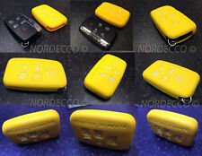 NUOVO Silicone 5 pulsanti smart portachiavi Protector Case Range Rover Discovery Giallo