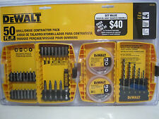 DeWalt 50 pc Drill Drive Contractor Pack DW2175HD Plus 2 cases Metal Wood PVC